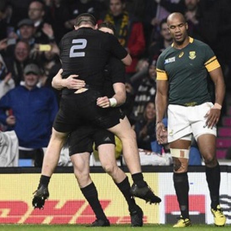 Nueva Zelanda, finalista del Mundial de rugby: superó a Sudáfrica por 20 a 18