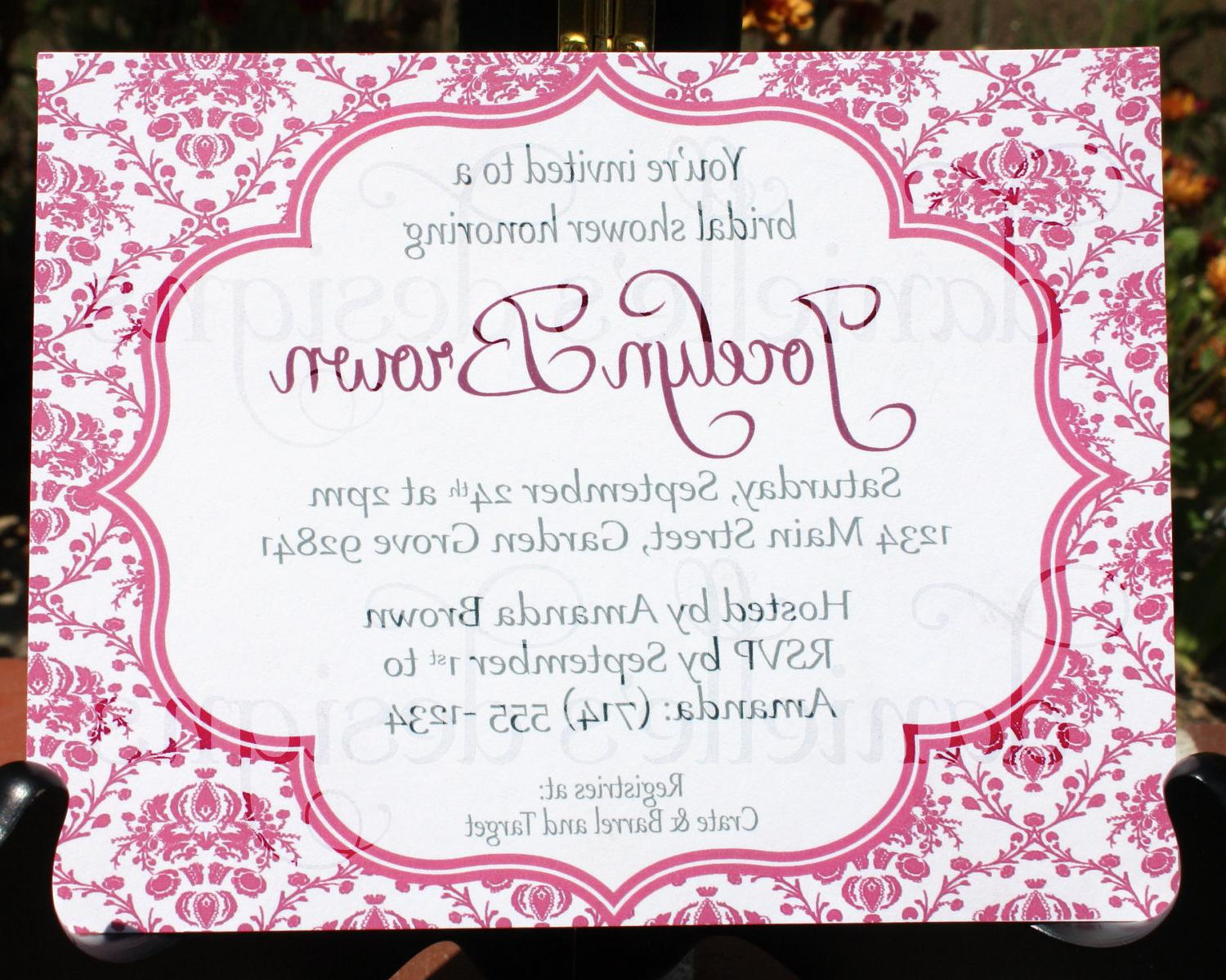 Pink Magenta Damask Customized