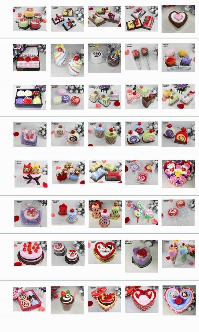 kinds of birthday cake towel gift, christmas gift, wedding gift with the