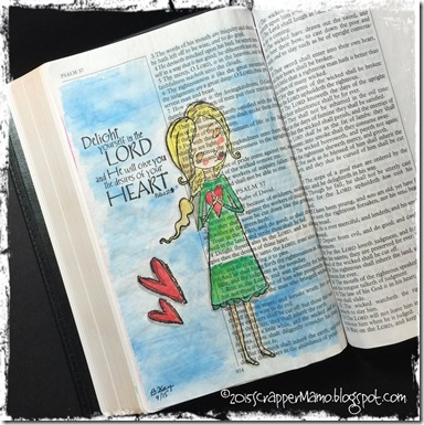 Bible Art Journaling Delight Yourself
