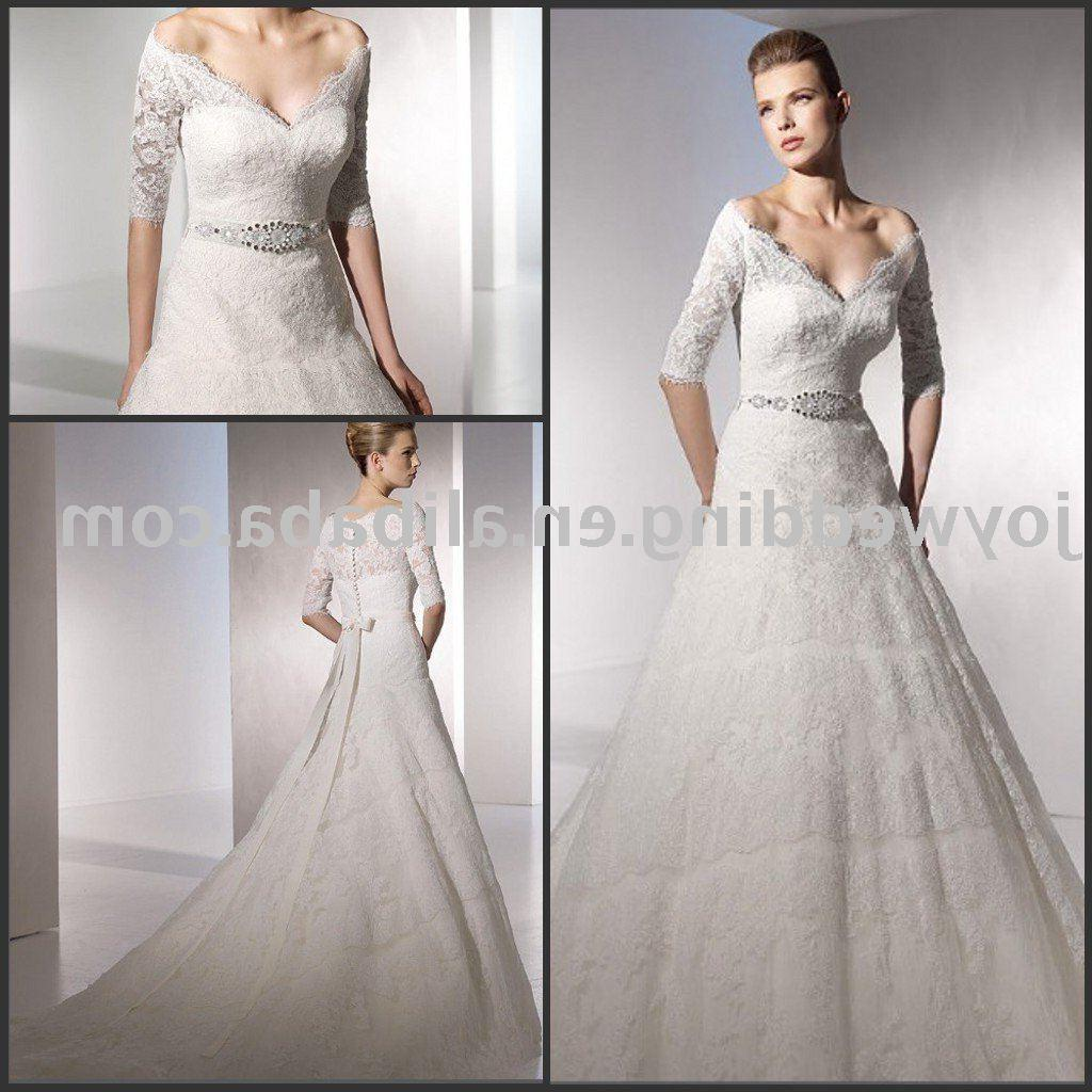 Fashion new designer lace wedding dress W1812