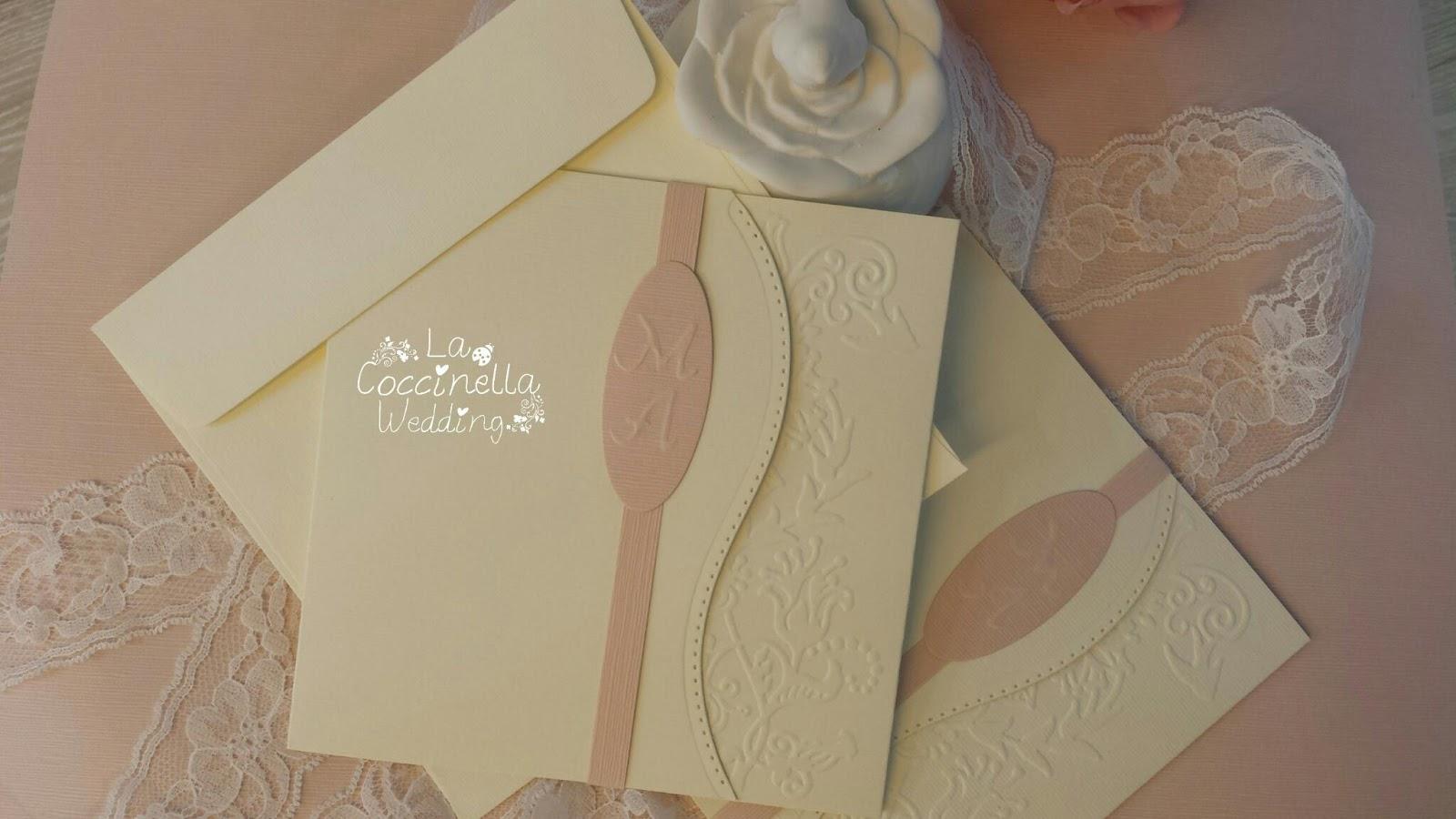 spesso Partecipazioni in carta naturale e rosa cipria RM65