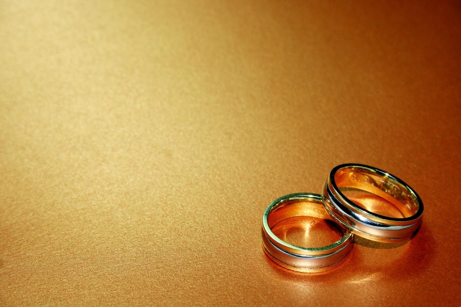 Wedding Bands on Orange