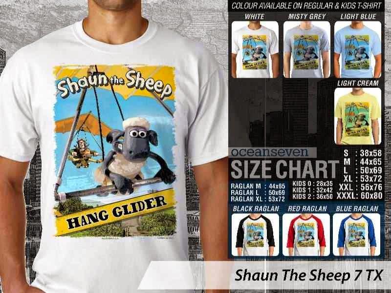 Kaos Movie Shaun The Sheep 7 distro ocean seven