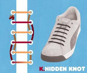 Memasang Tali Sepatu dengan Trik Hidden Knot