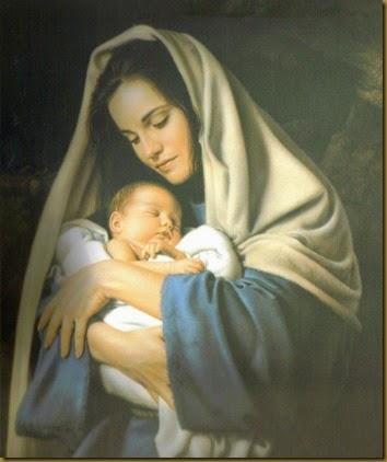 JESUS BEBE CON MARIA