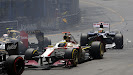 First corner incident Monaco with Romain Grosjean