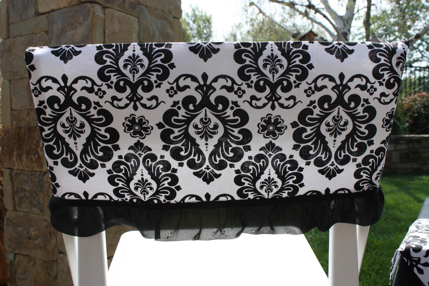 Black and White Damask,