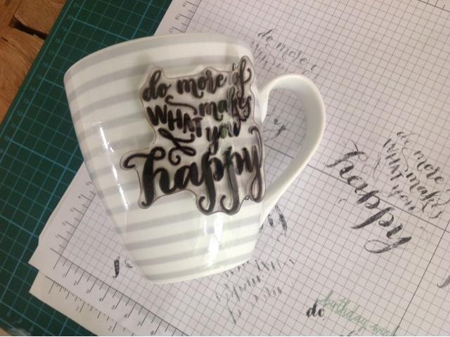 Kaffeetasse stempeln