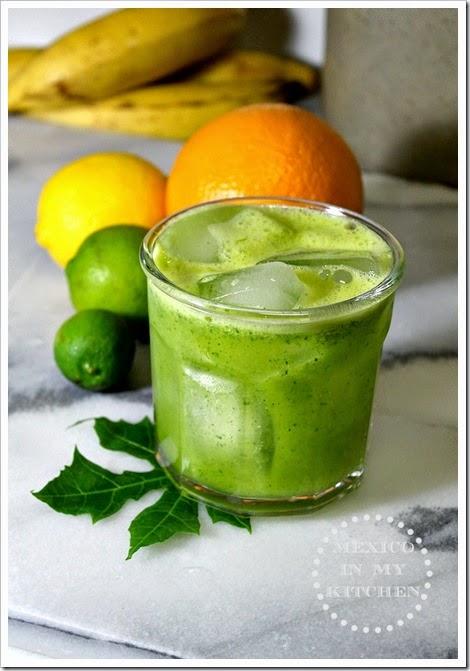 Agua Fresca made with Pineapple, Orange & Chaya | Agua de Chaya