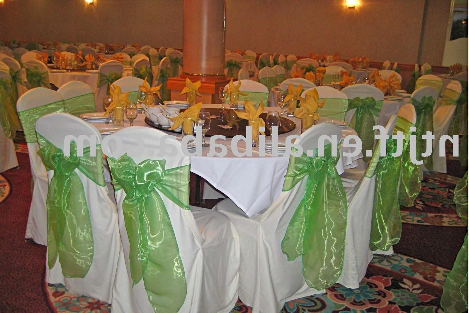banquet chair cover , sash