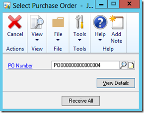 Select Purchase Order