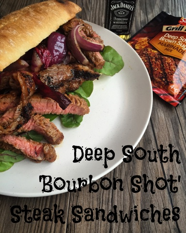 Deep South 'Bourbon Shot' Steak Sandwiches with Schwartz Grill Mates - Recipe - Jack Daniels