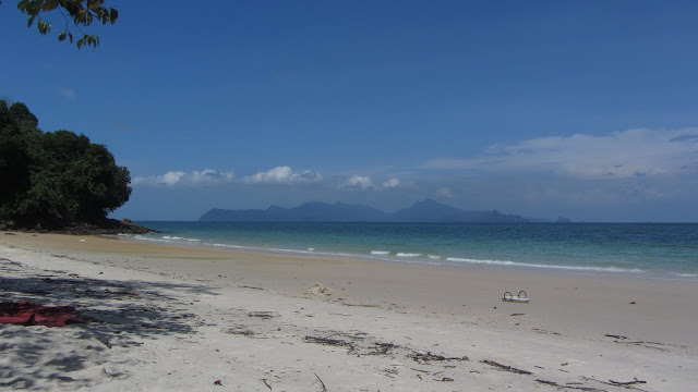 Pantai Pasir Tengkorak on Langkawi's northwestern coast. The island in the distance is Thailand.