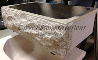 Shrimp Skin 1B Rock Face Apron Sink