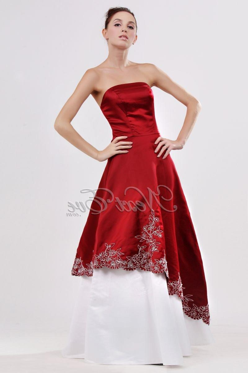Wine Red & White Dress as