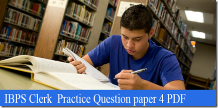 IBPS Clerk Preliminary Question paper PDF Set4  download