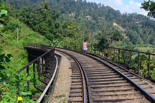 Горная железная дорога, мост через реку, Элла, Шри Ланка