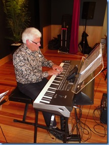 Rod Moffat playing his Korg Pa3X.