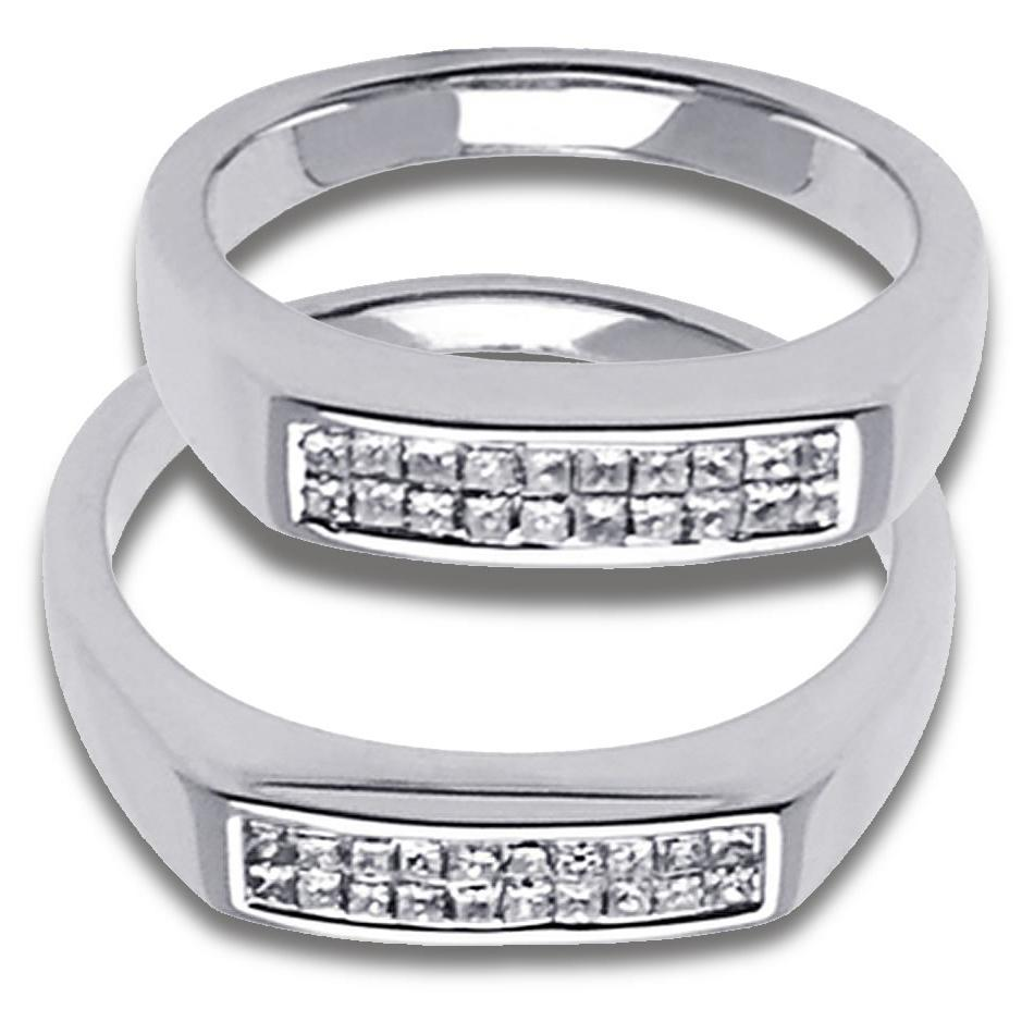 baguette wedding bands for