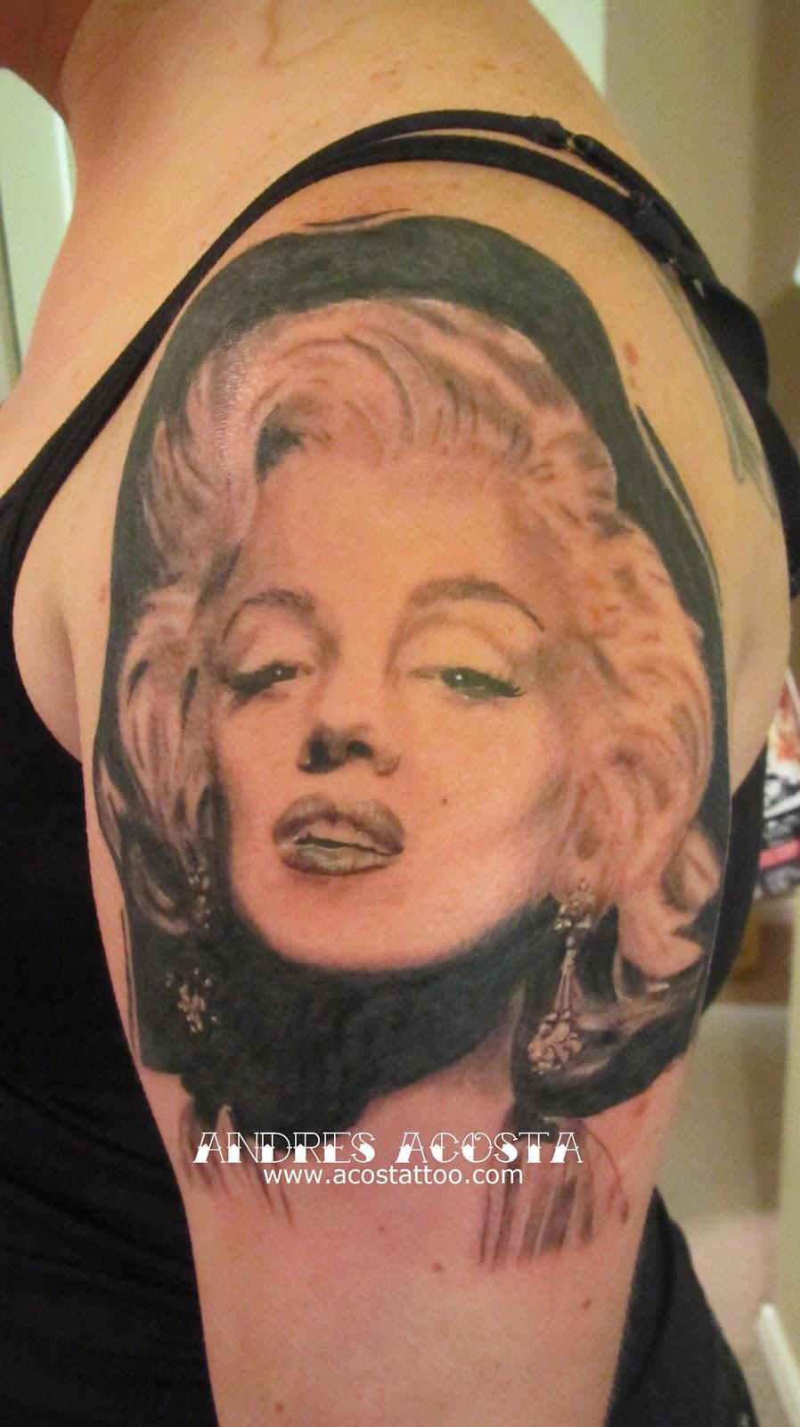 Marilyn Monroe Tattoo Portrait