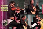 La música de cámara con guitarra brilló en este recital. Un feliz encuentro entre buenos músicos e inspiradas músicas. Enrique Palomares, violín y Rubén Parejo, guitarra.