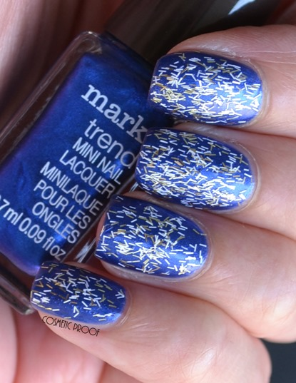 Avon Metallic Fringe Top Coat Fringed and Frayed Review Swatch (2)