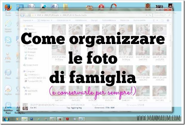come organizzare le foto di famiglia