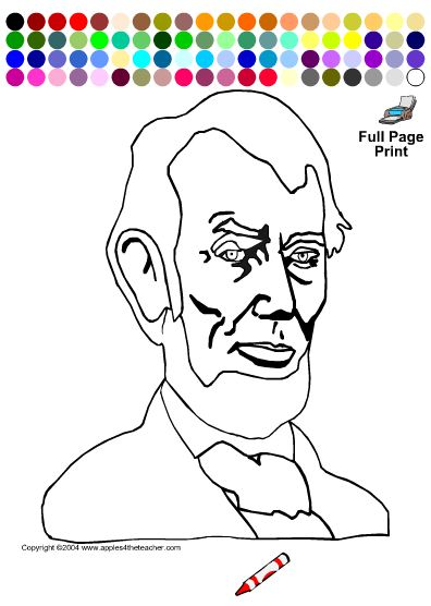 Abraham Lincoln, A Printable Book EnchantedLearning  - coloring pages of abraham lincoln