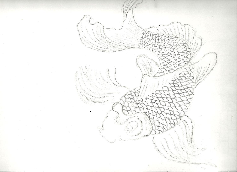 koi fish drawing by  keirushii