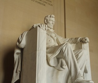 Abraham Lincoln Memorial at Washington DC