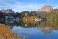 Kurzer Abstecher zum Lago di Misurina. Rechts die Drei Zinnen, links der Monte Piana.