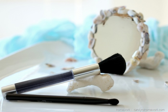 DIY Shell Magnifying Make Up Mirror via homework (3)