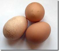 Mi amor, que son estos tres huevos?
