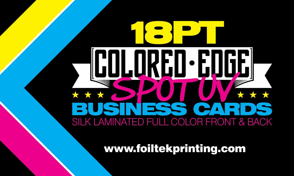 18PT & 24PT Colored Edge Business Cards