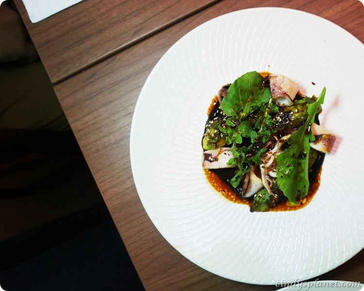 Copper Charcoal Grilled Avocado & Calamari