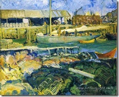the-fish-wharf-matinicus-island-by-George-Wesley-Bellows-141