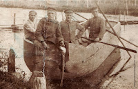 German soldiers during fishing