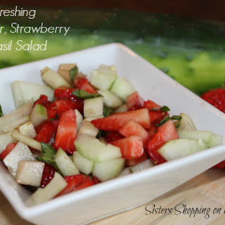 Cucumber, Strawberry and Basil Salad