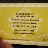 A Golden Ticket To See The Pope - Vatican City