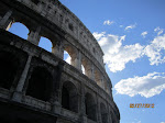 The exterior of Colosseum in Rome