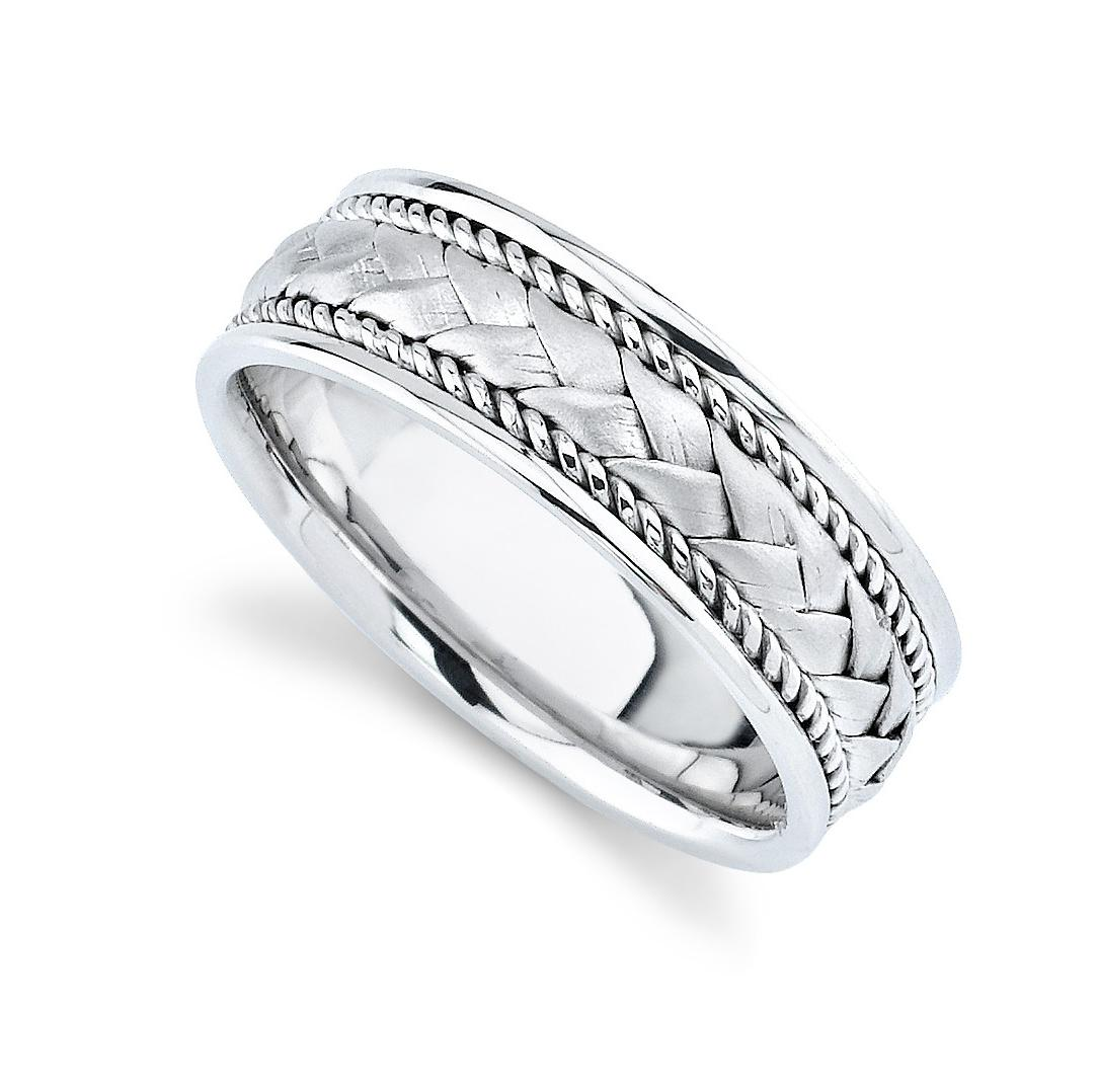 Elegant Mens Wedding Ring With
