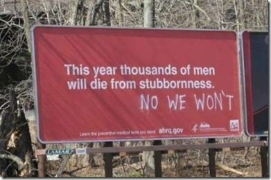 stubborn men