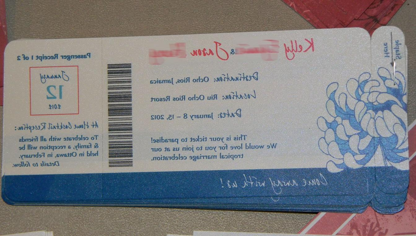 DIY Boarding Pass Wedding