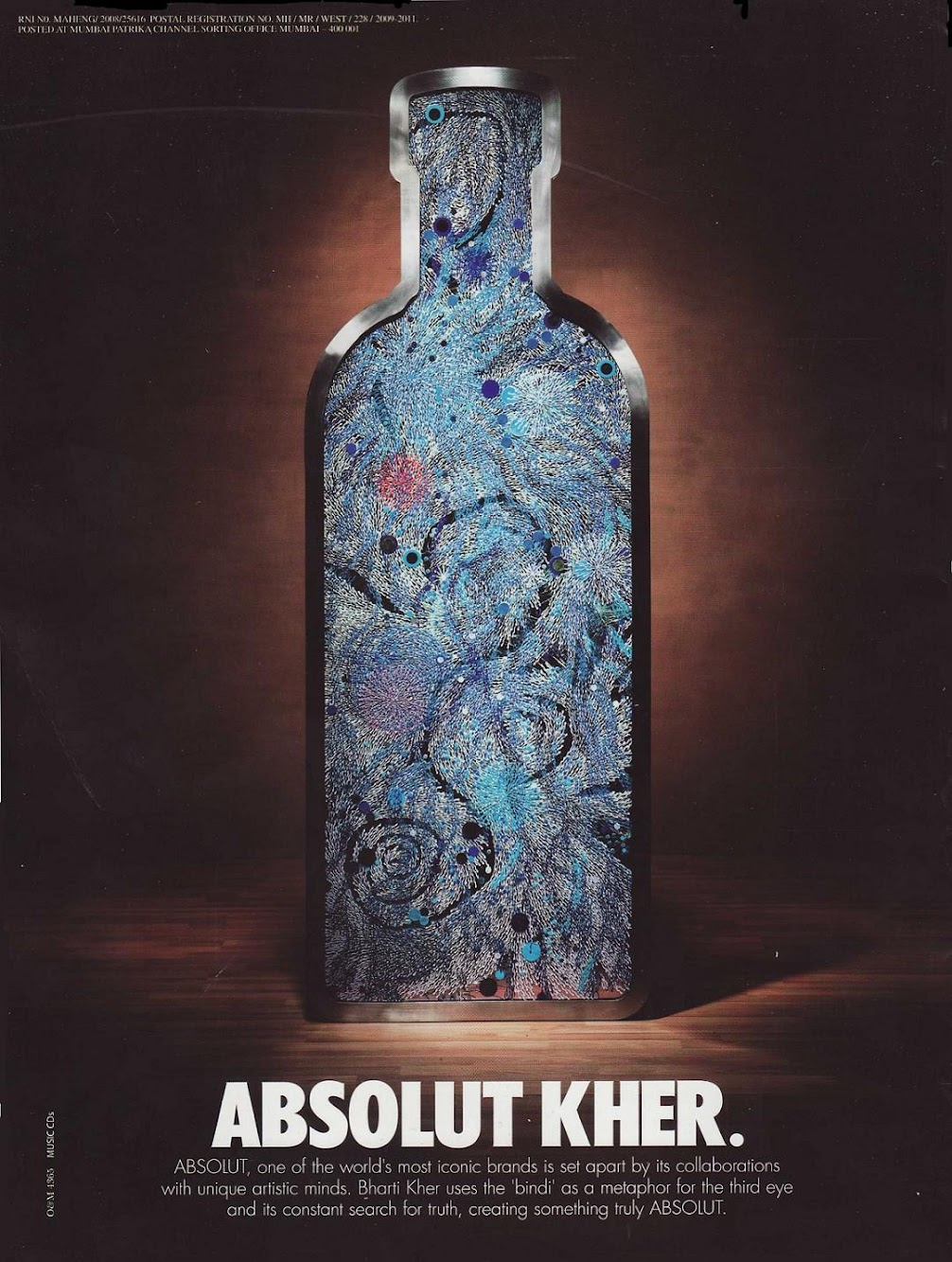 ABSOLUT Kher — Print Ad Absolut Vodka