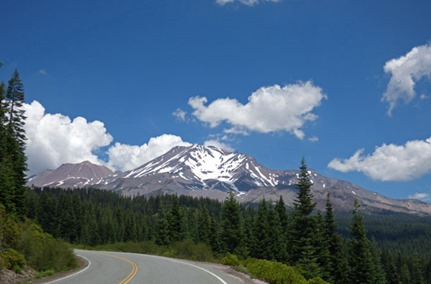 View of Mt. Shasta along Everitt Memorial Highway