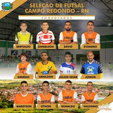 SELEÇÃO DE FUTSAL 2015 - OFICIAL