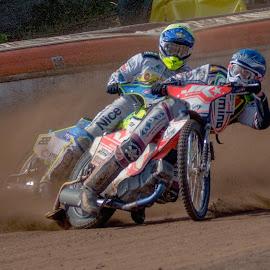 The Duel by Jiri Cetkovsky - Sports & Fitness Motorsports ( moto, speedway, liberec, motorsport, duel, race )