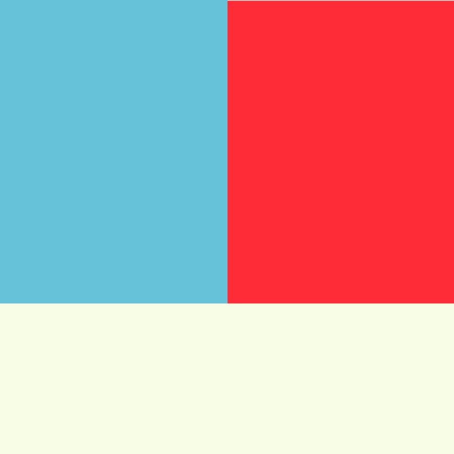 Red and Aqua with an Ivory