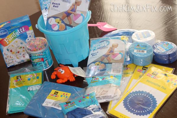 Dollar store birthday party supplies